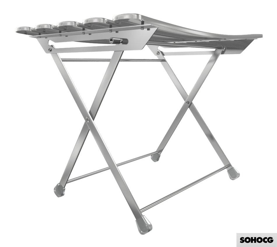 Arc en Ciel 402 Folding Footstool 3D Model